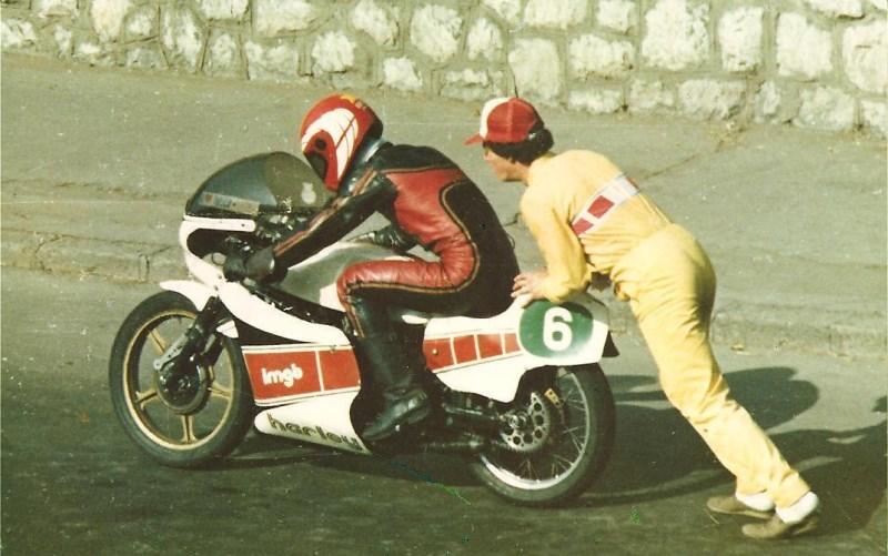1985 - Harley-Davidson Aermacchi 250cc - Turnu-Severin, cu Grosu (Anastase Irimia - Dorr)
