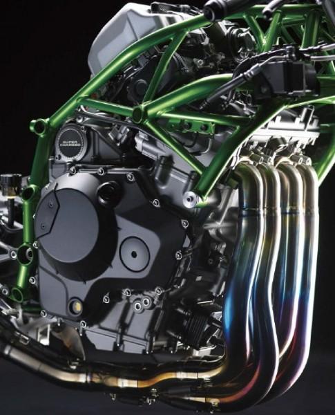 Kawasaki H2R motor